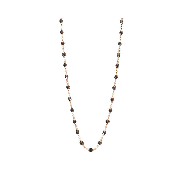COLLIER GIGI CLOZEAU OR ROSE QUARTZ 50 CM