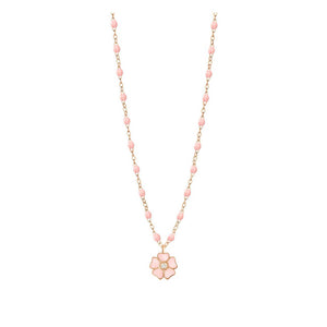 COLLIER GIGI CLOZEAU ROSE BEBE FLEUR DIAMANT OR ROSE