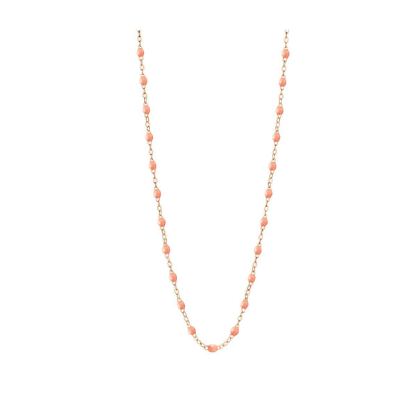 COLLIER GIGI CLOZEAU OR ROSE SAUMON 50 CM