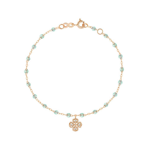 BRACELETGIGI CLOZEAU OR ROSE LUCKY TREFLE DIAMANT