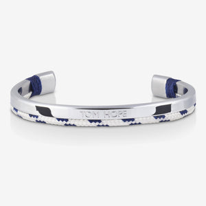 BRACELET TOM HOPE HYBRID CUFF ROYAL BLUE SILVER