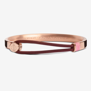 BRACELET TOM HOPE HYBRID 3 CARMINE ROSE