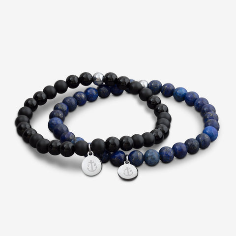 BRACELET TOM HOPE LAGUNA BLUE & BLACK