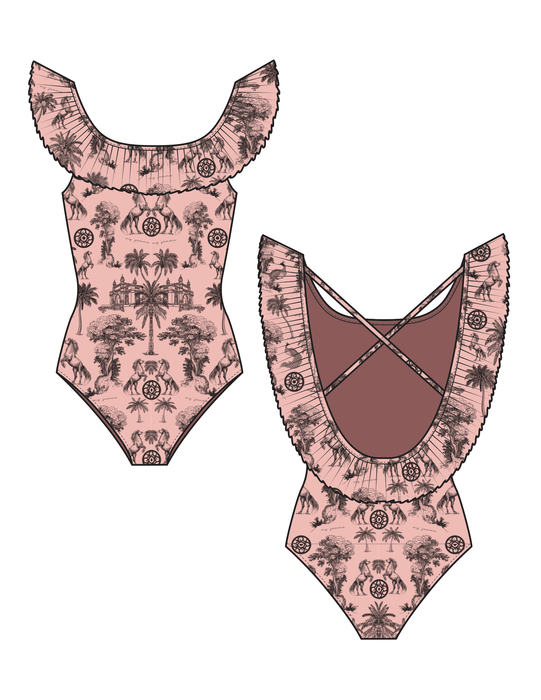 Mini Swimsuit with Ruffles (Deposit of €42.50)