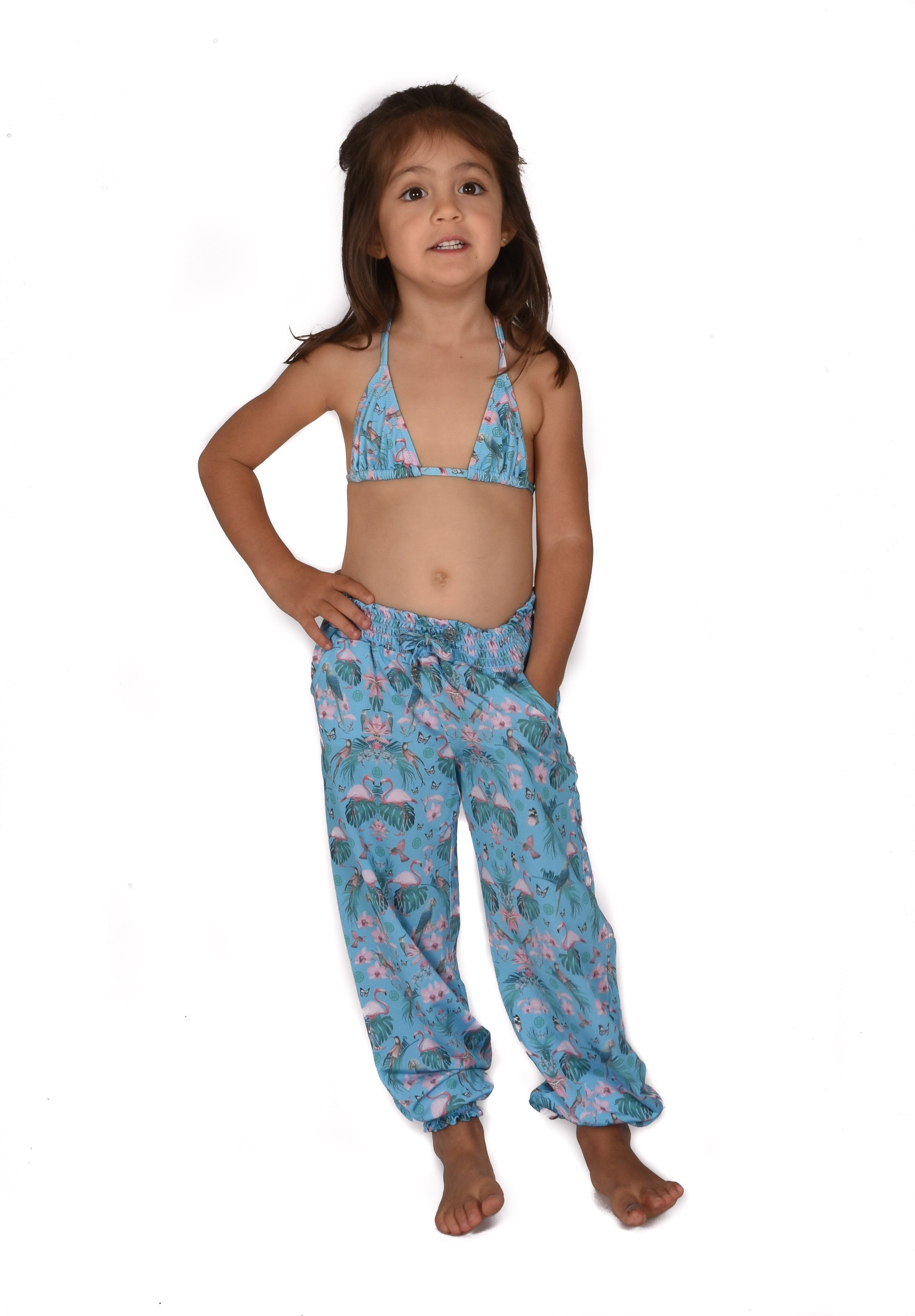 MINI PANTS MANOLITA IN CARIBBEAN BLUE