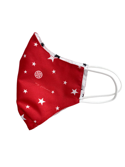 Reversible Mask in Red Star / White Star Print