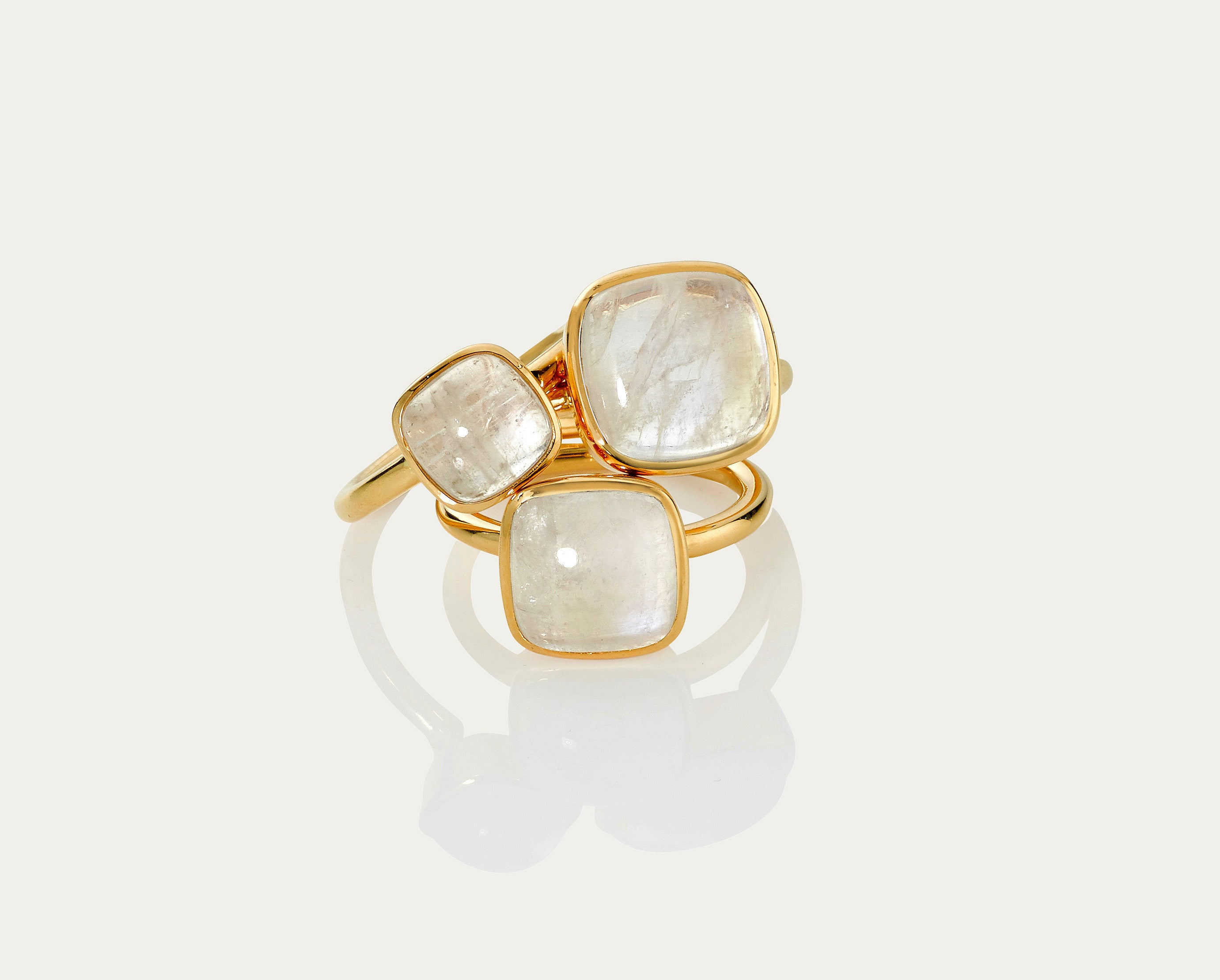 Bobo Ring Cabochon - Moonstone 10mm
