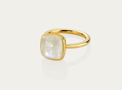 Bobo Ring Cabochon - Moonstone 8mm