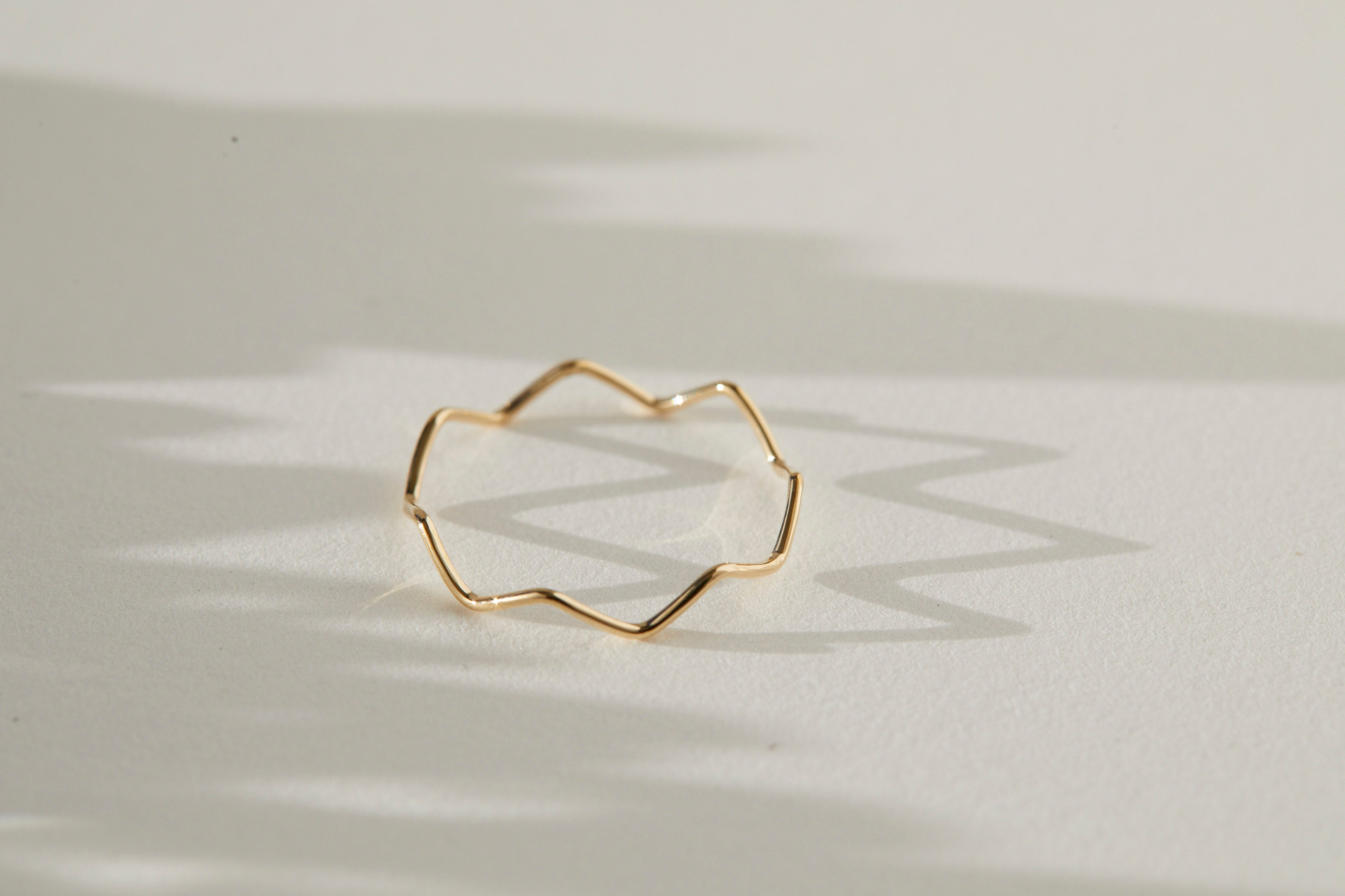 ZigZag ring 10K Yellow Gold