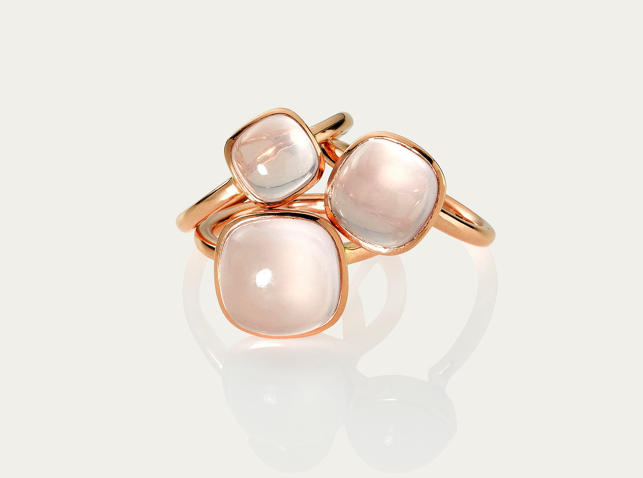 Bobo Ring Cabochon - Rose Quartz 8mm