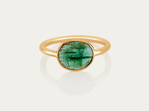 Jade Eternity Ring Lotus Green