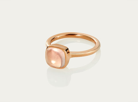 Bobo Ring Cabochon - Rose Quartz 12mm