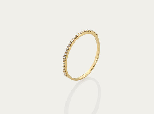 Eternity Mini Pave Diamond ring 18K Yellow Gold