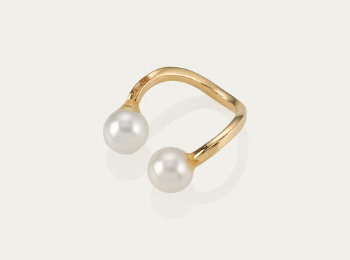 Allegro Pearl earcuff 18K Yellow Gold