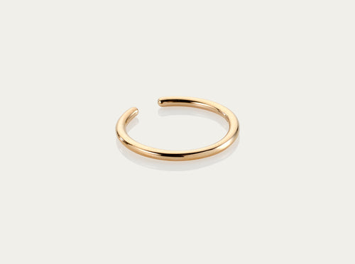 gold yellow gold earcuff earring ear bangle cuff