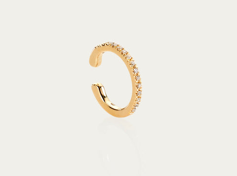 Ear Bangle cuff 12mm 18K Yellow gold