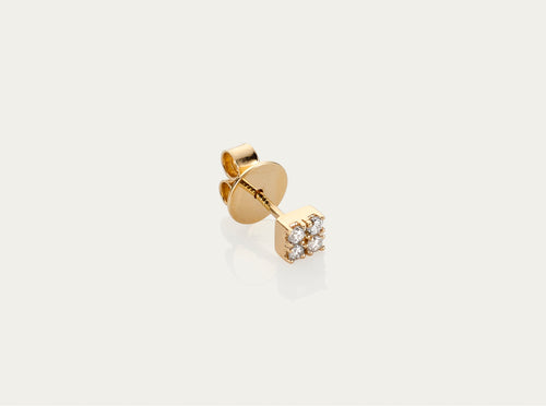 Diamond Quad ear stud 18K