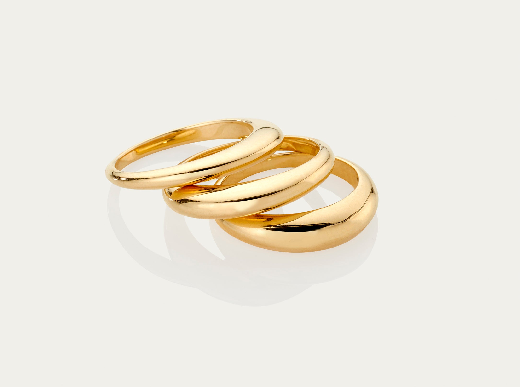 Lune 18K yellow gold ring small 3mm medium 4mm large 5mm