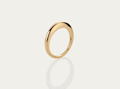 Ball chain ring 10K Yellow Gold