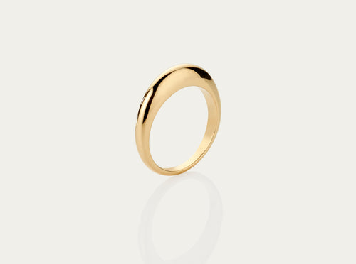 Lune 18K yellow gold ring medium 4mm