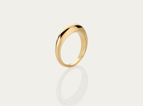 Lune 18K yellow gold ring medium 5mm