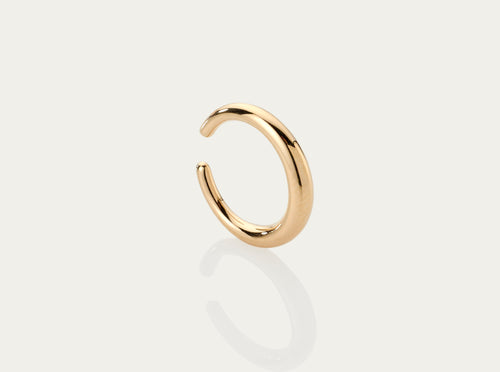 Lune Gold Ear Bangle 18K Yellow Gold 12mm