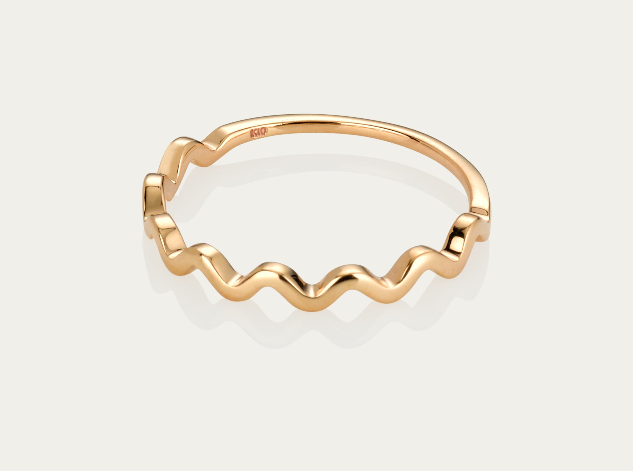 Wave ring 10K Yellow Gold