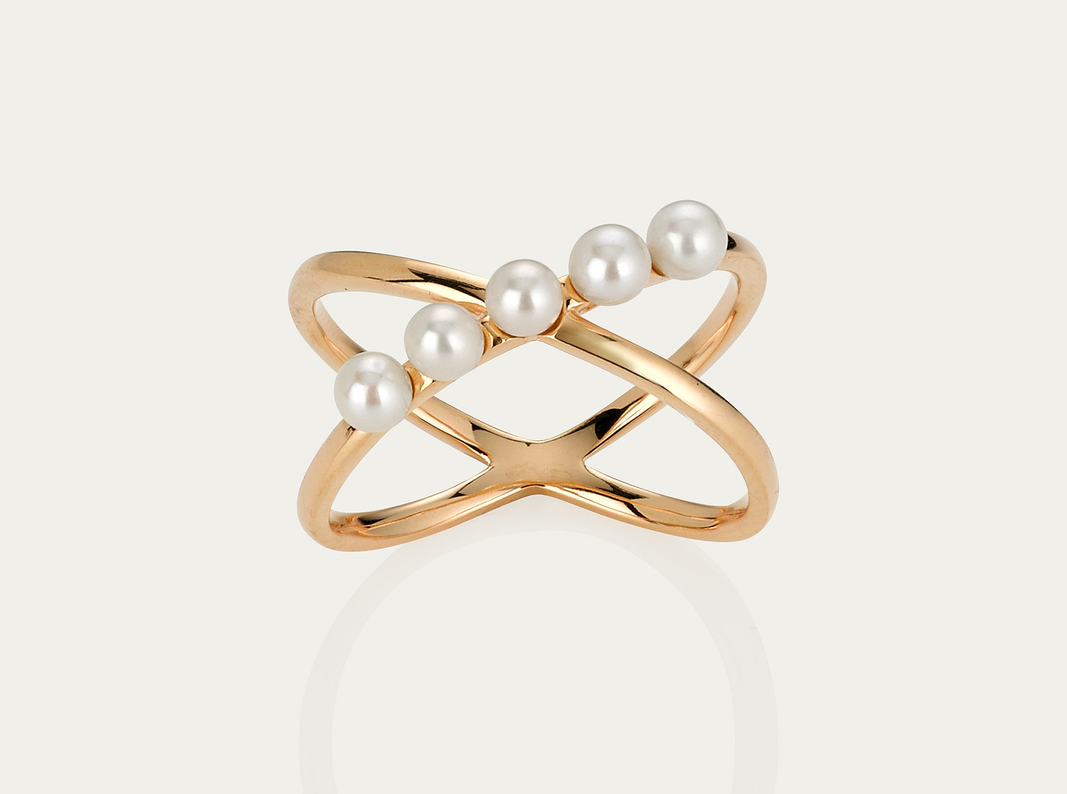 Orbit Pearl ring 10K Yellow Gold