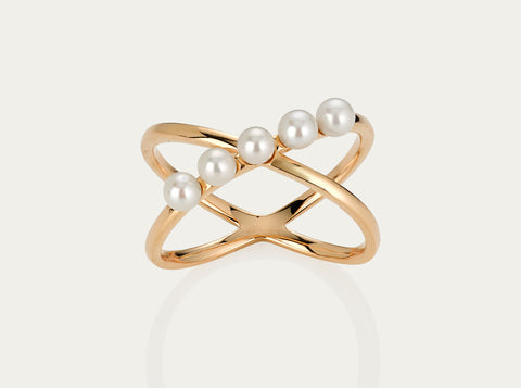Hex ring 10K Yellow Gold
