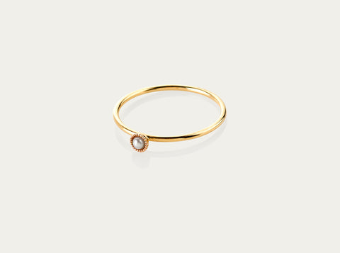 Box chain ring 10K Yellow Gold