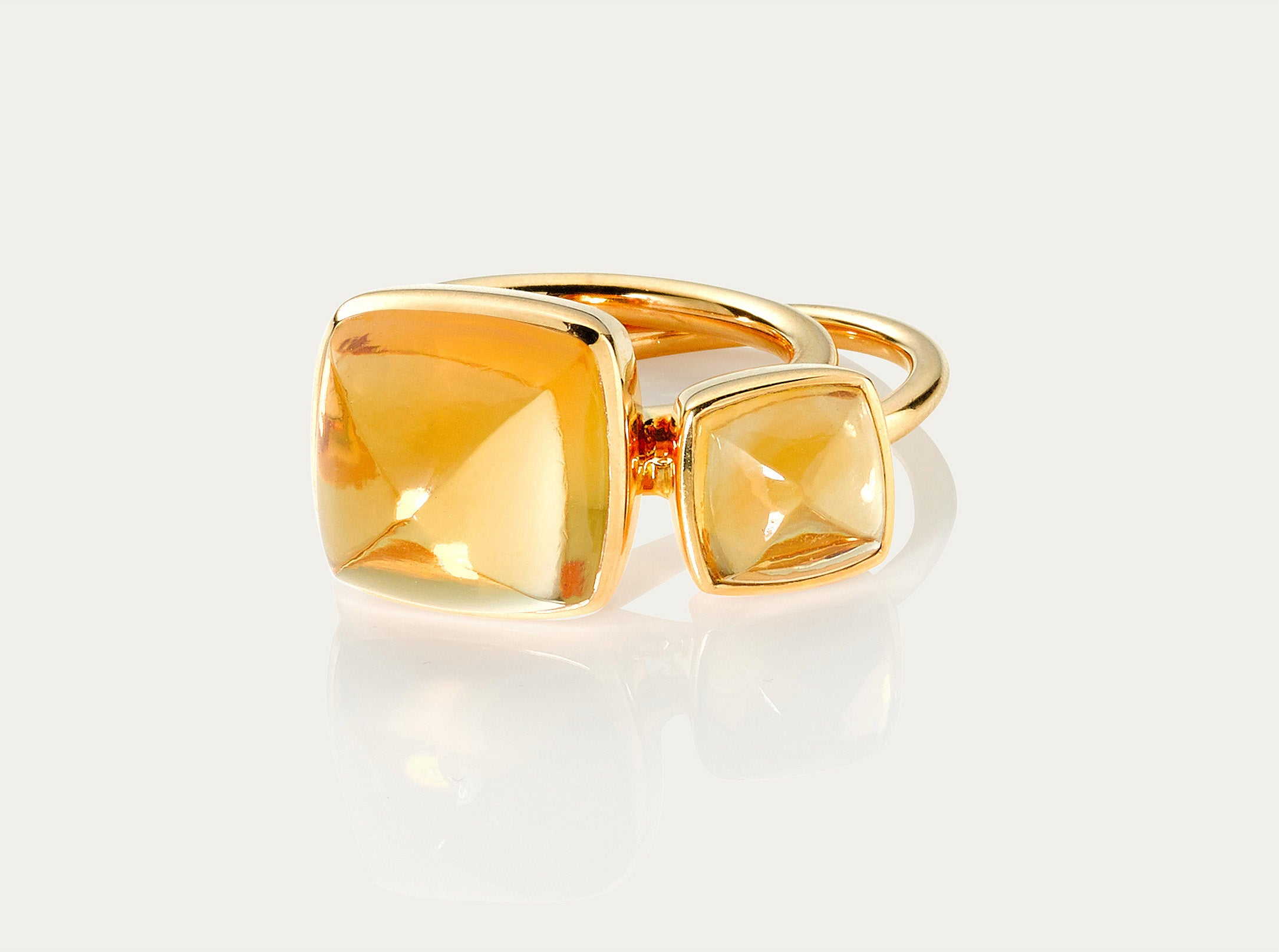 SUGARLOAF Cut Ring - CITRINE, 18K Gold