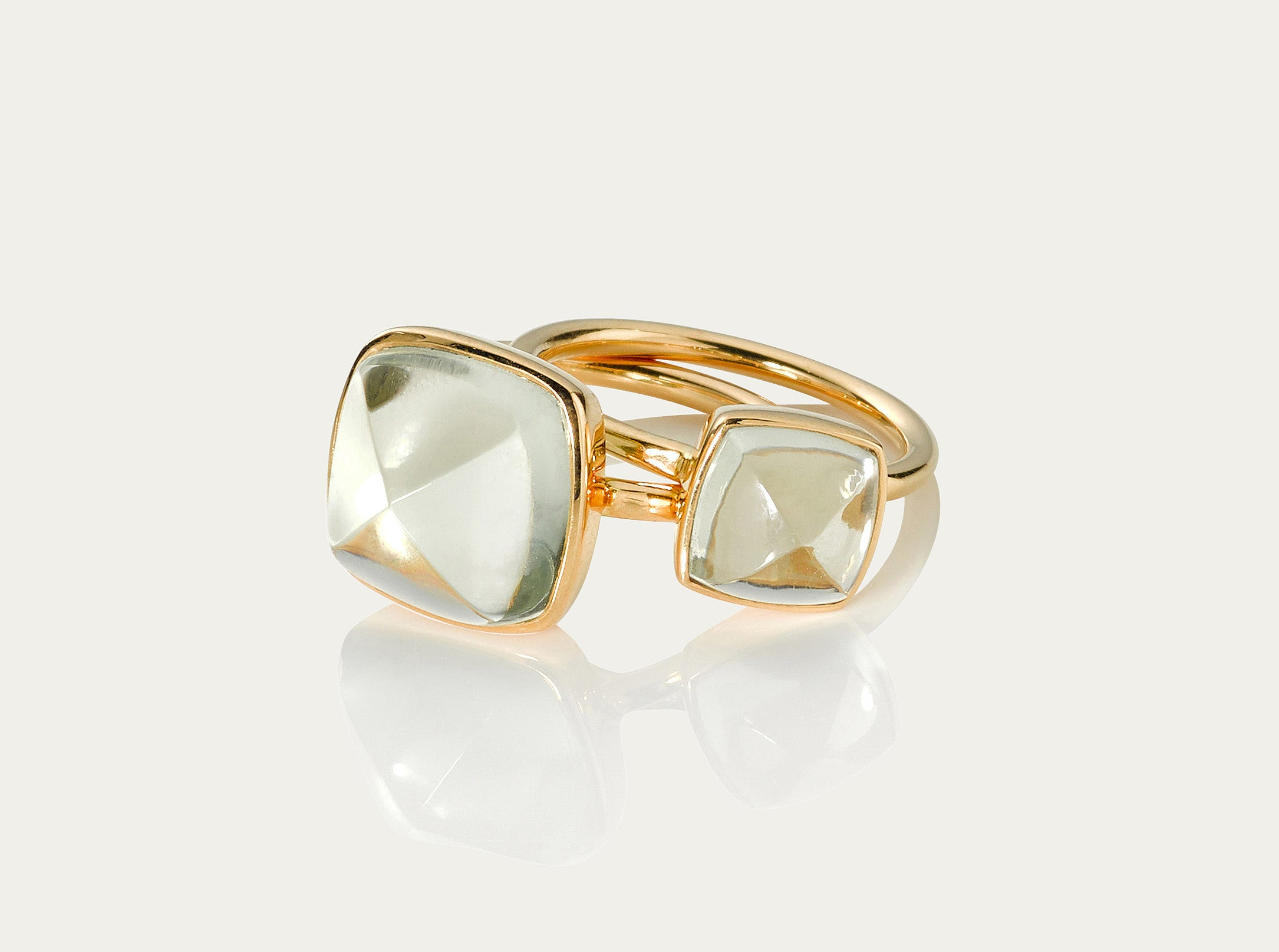 Bobo Ring Sugarloaf - Green Amethyst