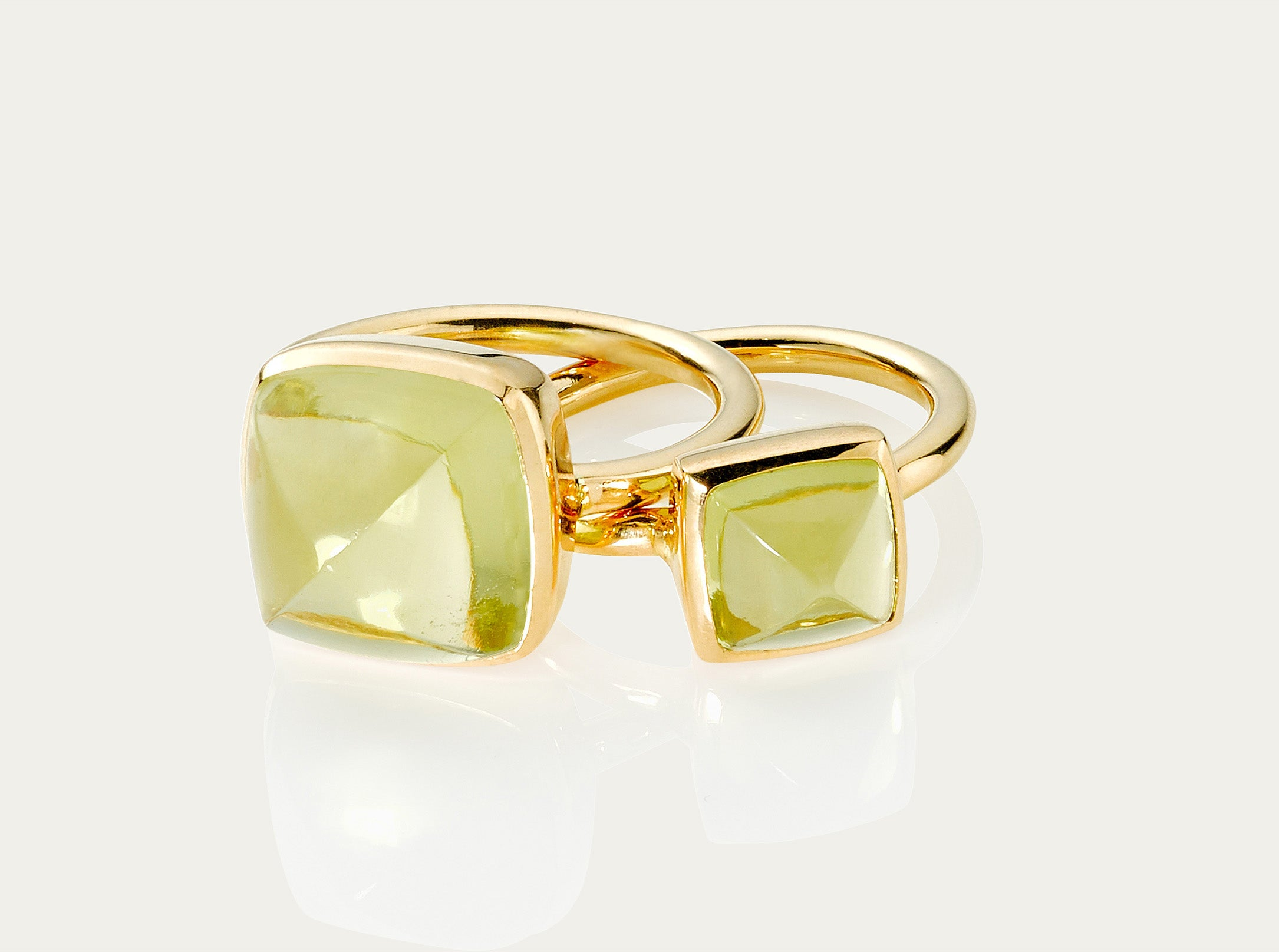 SUGARLOAF Cut Ring - LEMON TOPAZ, 18K Gold