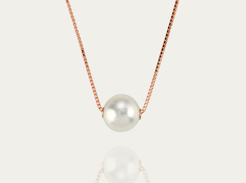 Akoya floating pearl 18K necklace