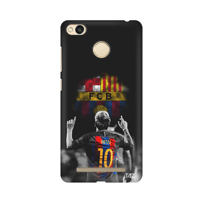 TraTec Football - Mesi Printed Case For Xiaomi Redmi 3s Prime