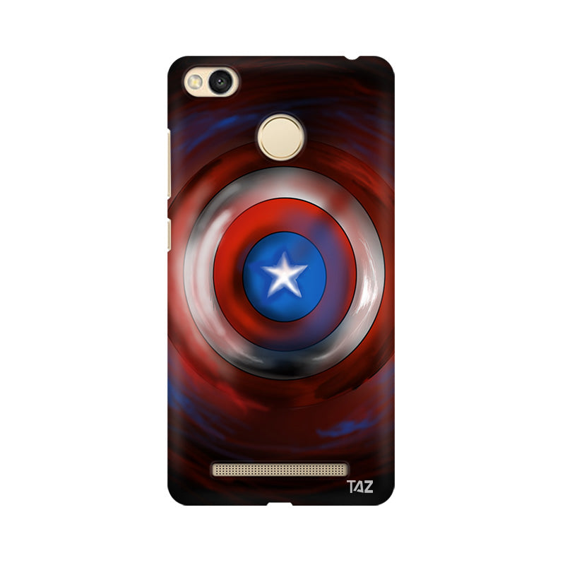 TraTec Captain America - Shield Printed Case For Xiaomi Redmi 3s Prime