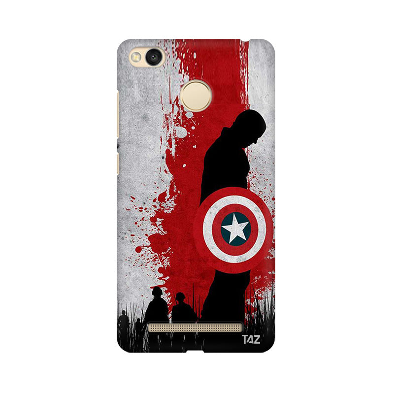 TraTec Captain America Printed Case For Xiaomi Redmi 3s Prime