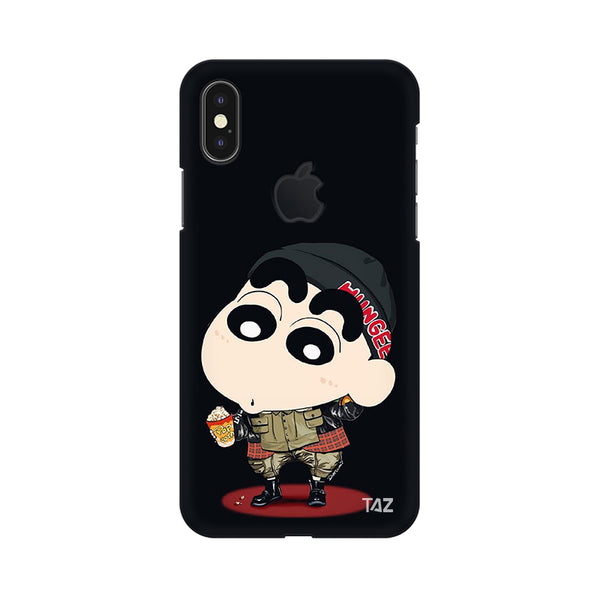 big sale e3004 d6ef5 Buy Apple iPhone X Apple Logo Cut Cases Cases Printed Back Cover ...