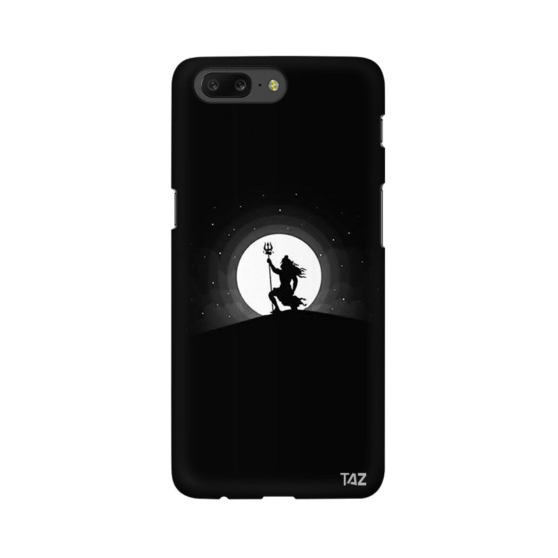 TraTec Black and White Lord Shiva Printed Case For OnePlus 5
