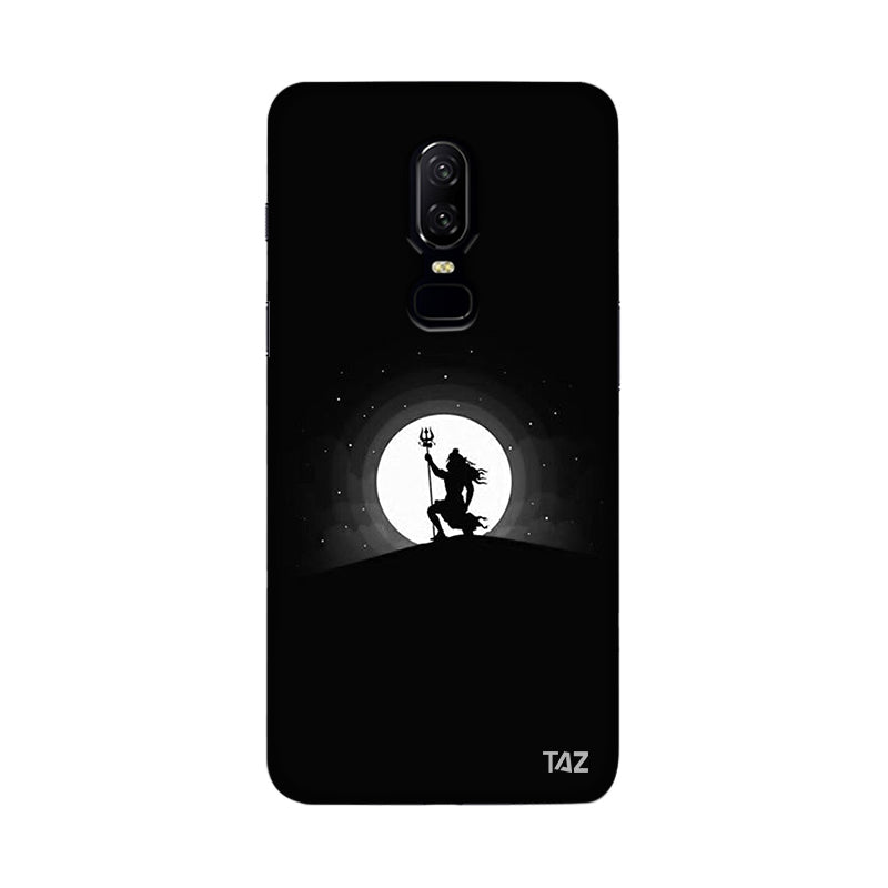TraTec Black and White Lord Shiva Printed Case For OnePlus 6