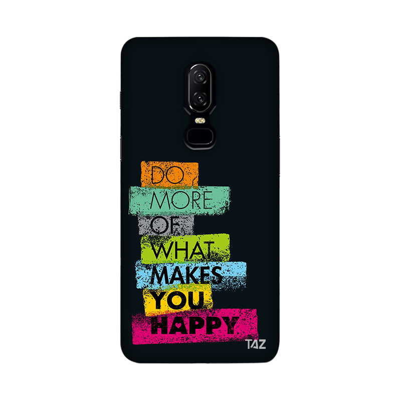 TraTec Typography Printed Case For OnePlus 6