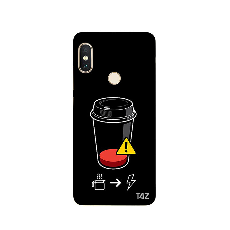 quality design 0095b c41b2 TraTec Coffee Battery Meter Printed Case For Xiaomi Redmi Note 5 Pro