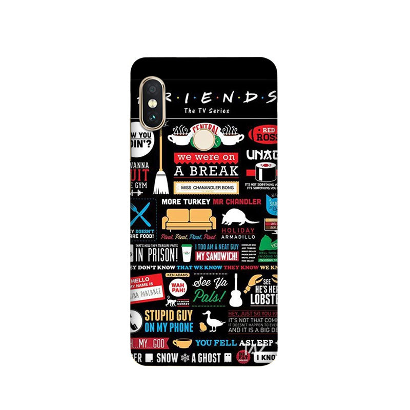 TraTec FRIENDS Printed Case For Xiaomi Redmi Note 5 Pro