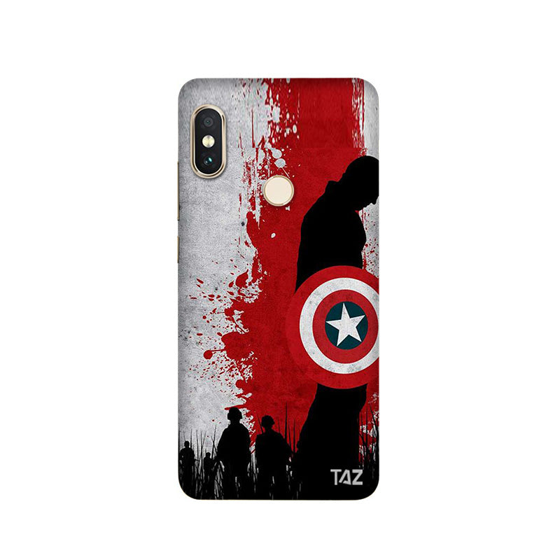 TraTec Captain America Printed Case For Xiaomi Redmi Note 5 Pro