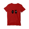 Deadpool Eyes Round Neck T-Shirt
