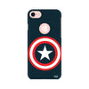 Captain America Printed Case For Apple iPhone 7 (Round Cut)