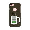 Coffee Battery Meter Printed Case For Apple iPhone 7 (Round Cut)