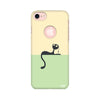 Feminine - Cat Printed Case For Apple iPhone 7 (Round Cut)
