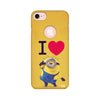 I Love Minion Printed Case For Apple iPhone 7 (Round Cut)