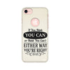 Typography Printed Case For Apple iPhone 7 (Round Cut)